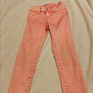 Size 6 crop old navy jeans pink